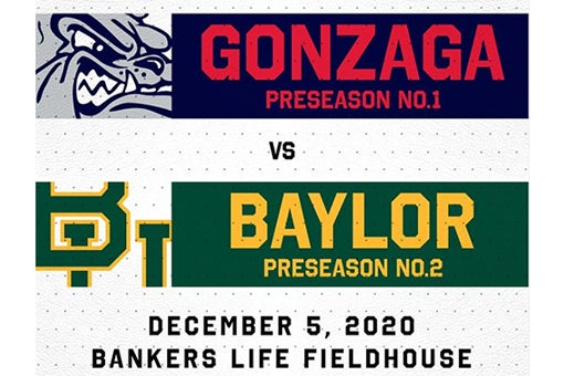 More Info for Baylor, Gonzaga Showdown Set for Dec. 5 at Bankers Life Fieldhouse